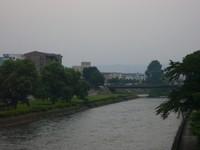 旭橋から北上川下流を見る