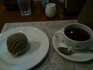 栗の木カフェ:モンブラン