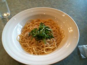 スパゲティ:ホタテのクリームソース