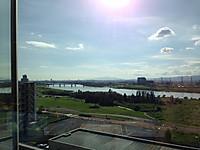 関西医大から淀川を望む